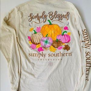 Simply Southern SZ S Autumn Fall Long Sleeve Tee